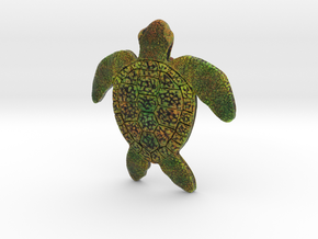 Full Colour Turtle Pendant in Full Color Sandstone