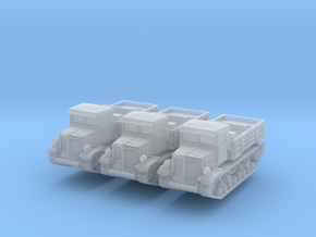 Voroshilovets tractor (x3) 1/220 in Smooth Fine Detail Plastic