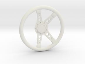 Genesis GT1 Racing Steering Wheel for RC Car  in White Natural Versatile Plastic