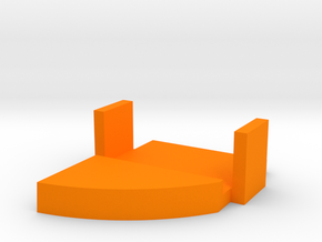 Starcom - Blast Track - Turret gun Barrel lock in Orange Processed Versatile Plastic