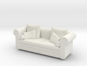sofa model 6 1/48 scale in White Natural Versatile Plastic: 1:48 - O