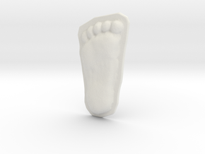 Bigfoot Footprint Cast 1/3 Scale in White Strong & Flexible