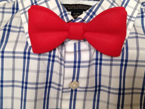 3D Printed Bow Tie in Red Strong & Flexible Polished
