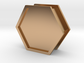 Hexbox in Polished Bronze