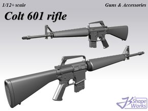 1/12+ Colt 601 rifle in Smoothest Fine Detail Plastic: 1:12