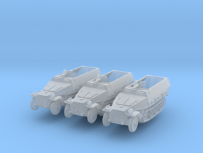 Sdkfz 251/3 D Radio (x3) 1/285 in Smooth Fine Detail Plastic