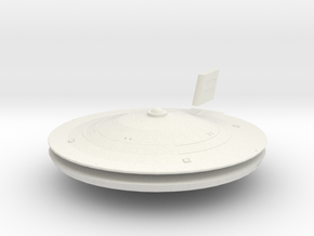 1000 TOS Federation class saucer1 in White Natural Versatile Plastic