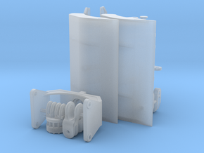 Clamshell grab/ Sandgreifer/ Open schalengrijper in Smoothest Fine Detail Plastic