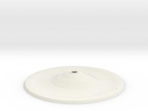 1000 TOS saucer v3 bottom1 in White Natural Versatile Plastic