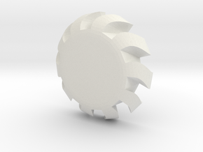 Nerf Vortex Compatible 'Turbine' Disc Ammo in White Natural Versatile Plastic