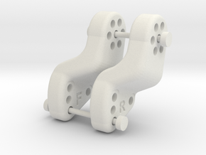 DLUX Extended Centered links mount Front & Rear in White Natural Versatile Plastic