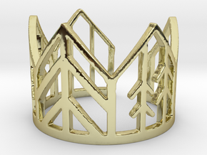 forest crown in 18k Gold Plated Brass