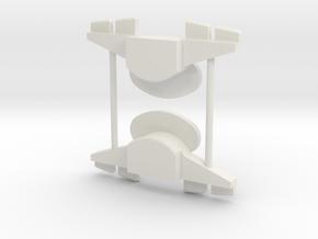 Heel stabilzer for Zeta Bruticon in White Natural Versatile Plastic