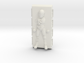 Mandalorian in Carbonite (Star Wars Legion) in White Natural Versatile Plastic