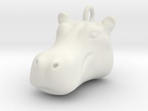 Hippopotamus head 2101091440 in White Natural Versatile Plastic