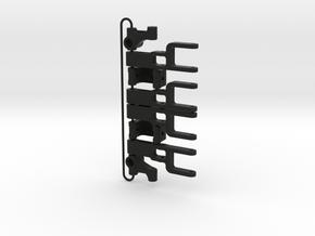 MSR Front Suspension Set V2 Blackfoot in Black Natural Versatile Plastic