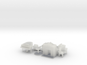 Living Room Stuff Collection 1 HO Scale in Smooth Fine Detail Plastic