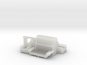 Living Room Stuff collection 2 HO Scale in Smooth Fine Detail Plastic