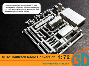 US halftrack Radio Conversion Set 1/72 scale in Smooth Fine Detail Plastic