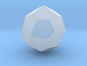 Pentagonal Icositetrahedron (dextro)-10mm-RoundV1 in Smooth Fine Detail Plastic