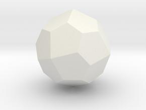 Pentagonal Icositetrahedron (Laevo) - 1In-RoundV2 in White Natural Versatile Plastic
