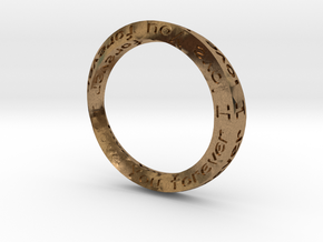Forever Love 18mm ring in Natural Brass