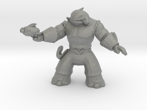 Whaleian Warrior miniature model for games rpg dnd in Gray PA12