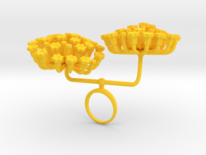 Fennel ring with two large flowers I L in Yellow Processed Versatile Plastic: 7.25 / 54.625