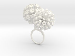 Garlic ring with two large flowers R in White Processed Versatile Plastic: 7.25 / 54.625