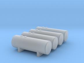 1:400 Fuel Storage Tanks 4pc in Smooth Fine Detail Plastic