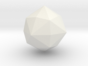 Disdyakis Dodecahedron - 1 Inch in White Natural Versatile Plastic