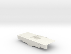 "3/4"" Scale USRA Front Frame Piece in White Natural Versatile Plastic"