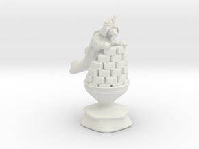 Queen - Dogs Of War Chess Piece in White Natural Versatile Plastic