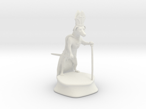 Bishop - Dogs Of War Chess Piece in White Natural Versatile Plastic