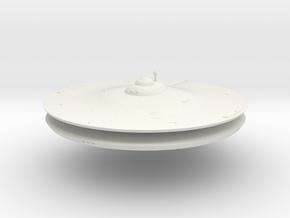 1000 TOS saucer part1 in White Natural Versatile Plastic