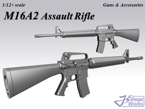 1/12+ M16A2 Assault Rifle in Smoothest Fine Detail Plastic: 1:12