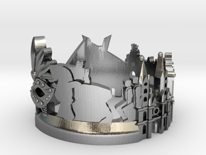 Sao Paulo Skyline - Cityscape Ring in Polished Silver: 6 / 51.5