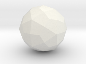 Deltoidal Hexecontahedron - 1 Inch in White Natural Versatile Plastic