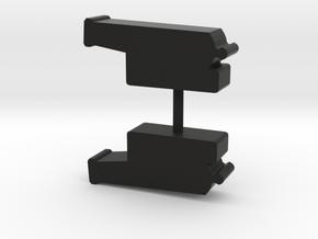 Ship's cannon meeple, 2-set in Black Natural Versatile Plastic