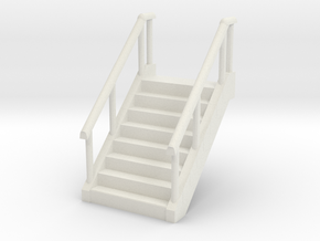 Stairs (W36mm H60mm) 1/48 in White Natural Versatile Plastic