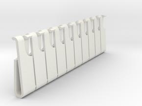 Bag Strap Clip Large x10 in White Natural Versatile Plastic