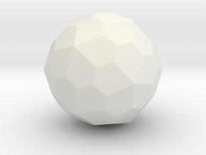 Pentagonal Hexecontahedron (Dextro) -1In-Round1 in White Natural Versatile Plastic