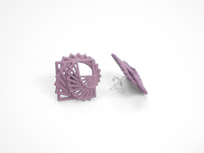 Arithmetic Earrings (Studs) in White Natural Versatile Plastic