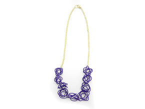 Sprouted Spirals Necklace (Chain) in Purple Strong & Flexible Polished