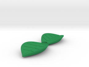 Leaf shaped outlet cover in Green Processed Versatile Plastic