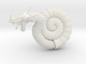 Nautiloid Dragon in White Natural Versatile Plastic