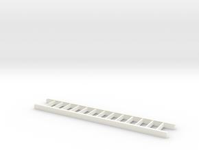 Ladder 12 Scale Feet in White Processed Versatile Plastic: 1:18