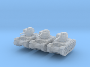 Panzer 38t E (x3) 1/285 in Smooth Fine Detail Plastic