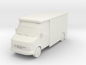 Mercedes Armored Truck 1/100 in White Natural Versatile Plastic