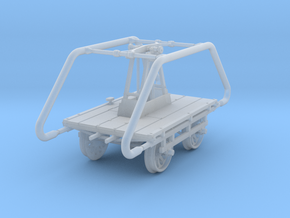 Sn3 Scale Sheffield No 5 Narrow Gauge Handcar in Smooth Fine Detail Plastic
